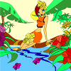 Kid's Coloring: Jungle Girl